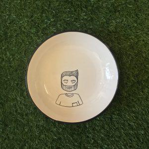 la faccia nel piatto